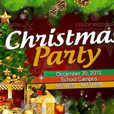 Christmas Party Banner PSD