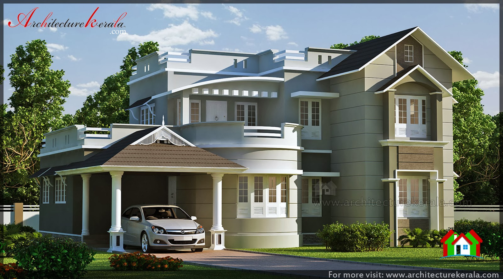 Good looking house design architecture kerala Good house designs in india