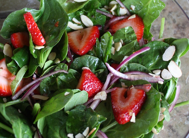 Barefeet In The Kitchen: Strawberry Spinach Salad