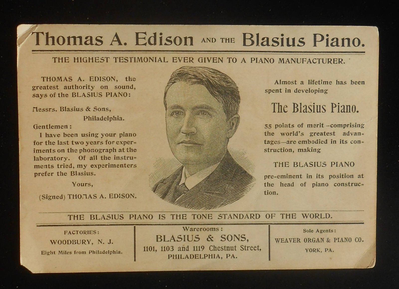 Village green preservation society blasius sons piano works a edison says my experiments prefer the blasius in tone finish workmanship and construction the blasius piano surpasses all others xflitez Images