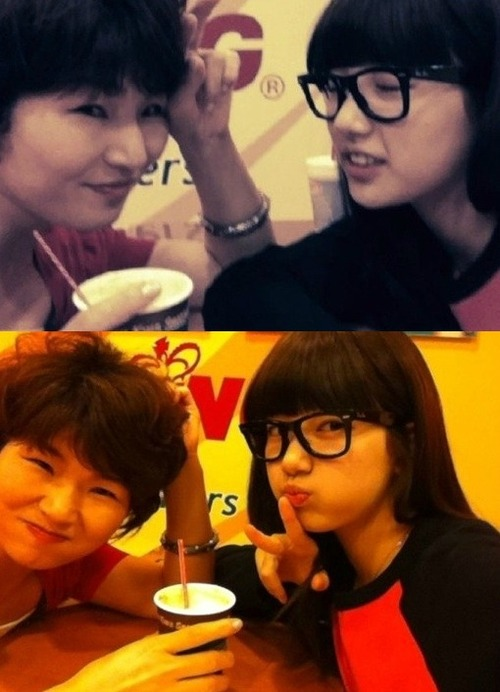 BAE SUZY Selca with her MoM