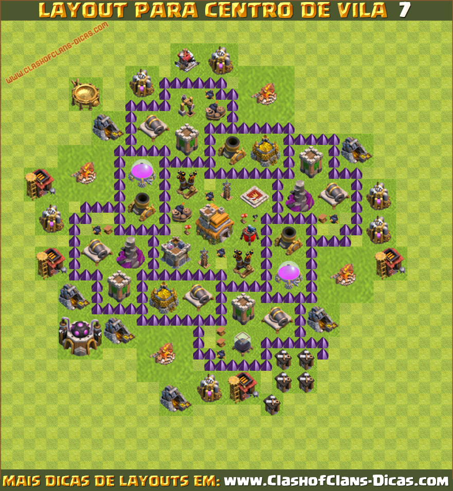 Layouts de CV7 para Clash of Clans - Clash of Clans Dicas, Gemas ...
