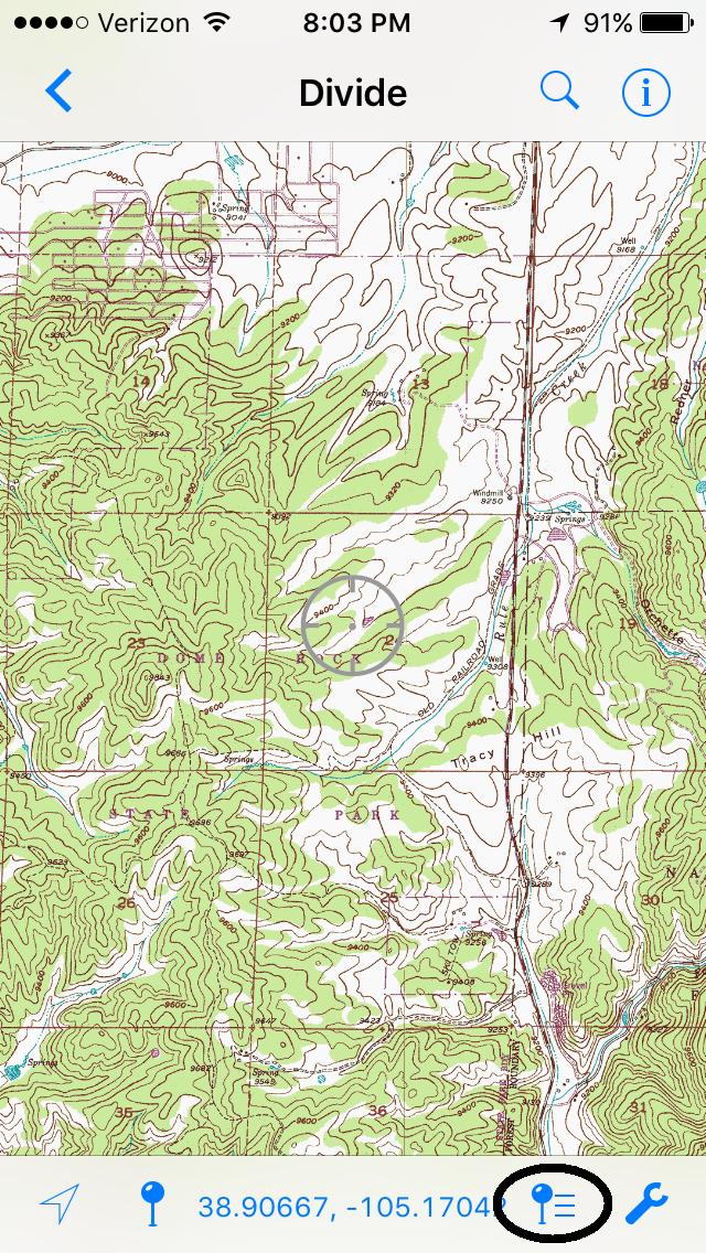Matts Map Musings - Denver Circled On Us Map