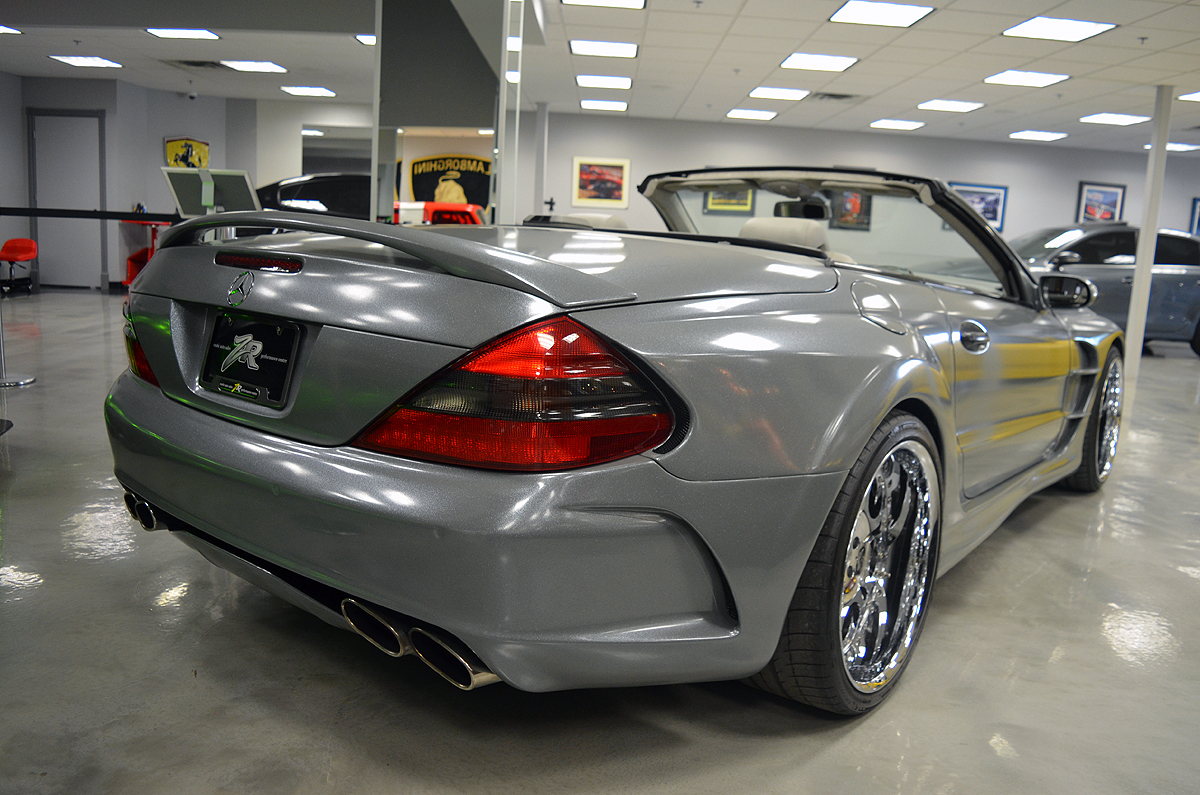 zr auto blog for sale widebody mercedes sl55 amg with over 640hp. Black Bedroom Furniture Sets. Home Design Ideas