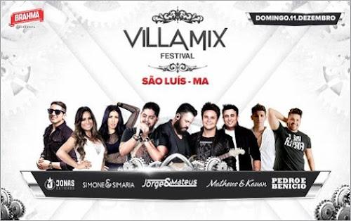 Villa Mix Festival em São Luís - MA 11 de Dezembro 2016