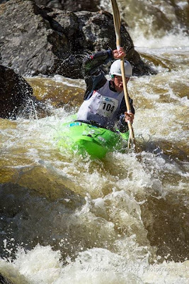 Trying to control my panting in the Steep Creek Race, Chrsi Baer, Kayak, vail, go pro, mountian games