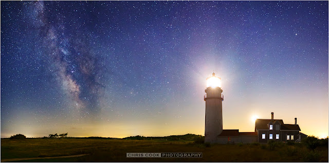 Cape Cod wedding blog photo from Chris Cook Photography about Milky Way Sky