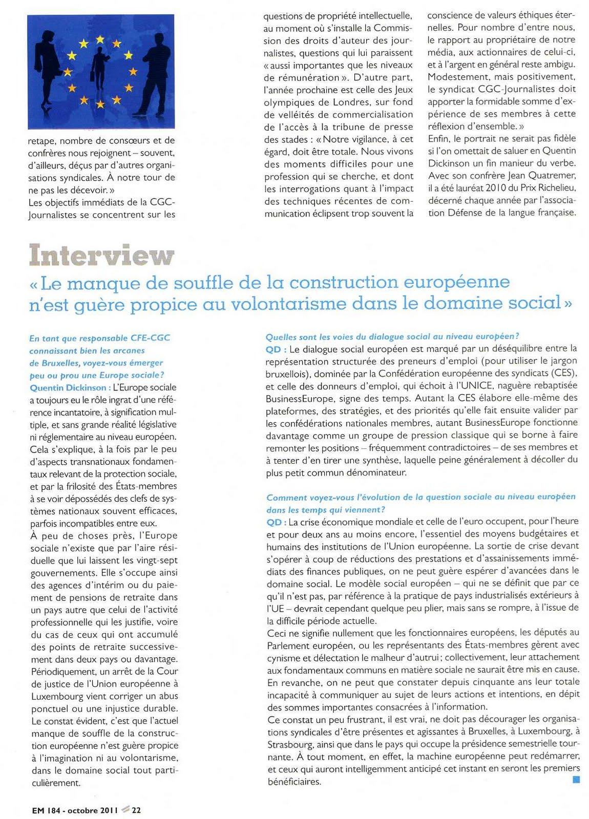 SNPCA - CFE-CGC Radio France: Quentin Dickinson ...