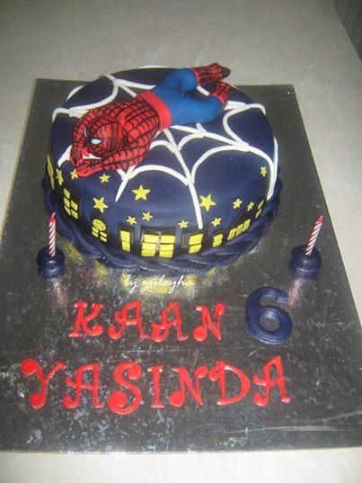 örümcek adam pastası,pasta,spider man