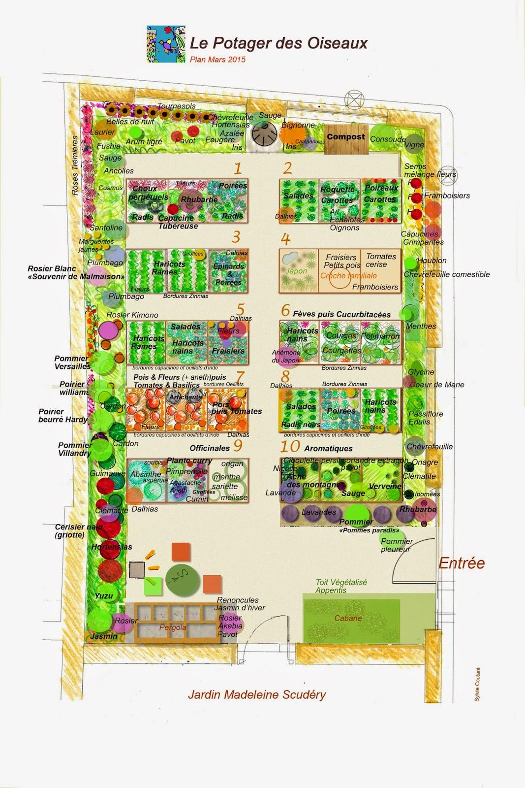 Jardin potager des oiseaux plan de culture pour le for Organiser son jardin potager