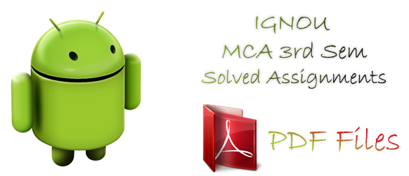 Links to download IGNOU MCA 3rd sem solved assignments for free