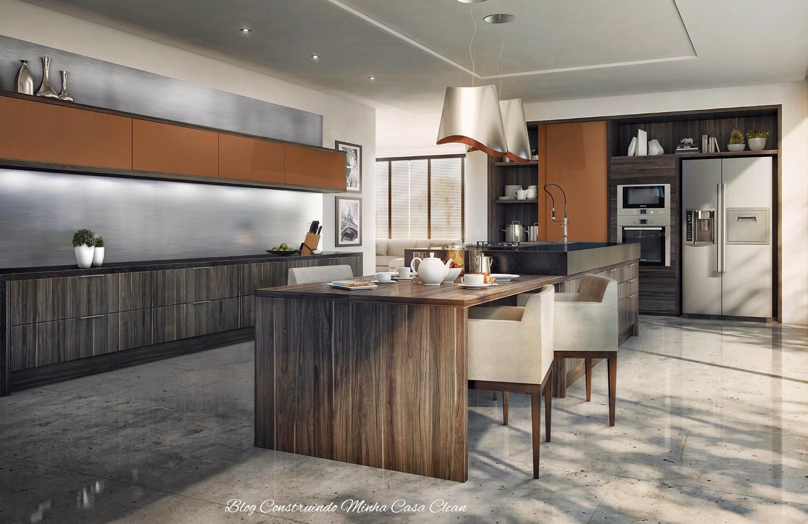 Sala De Jantar Todeschini ~ Construindo Minha Casa Clean Cozinhas Modernas com Cinza!!! Pequenas