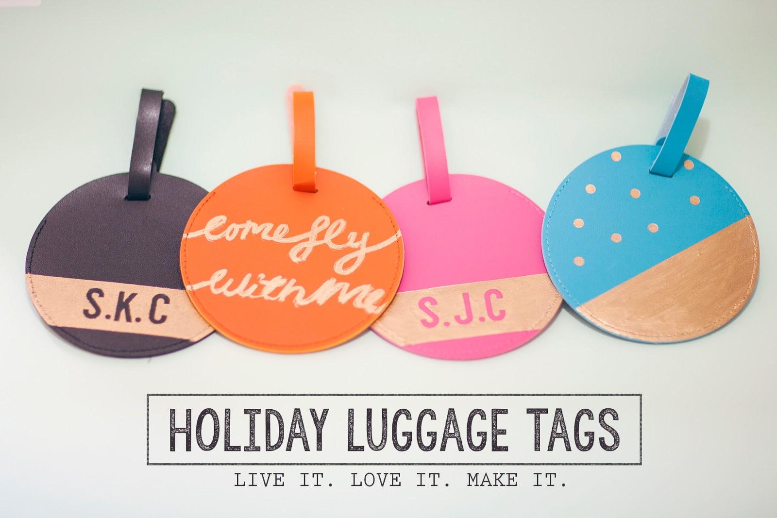 live it love it make it make it holiday luggage tags