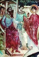 Sf Mare Mucenic Gheorghe in fata Imparatului Diocletian