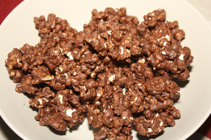 popcorn med choklad