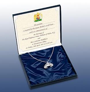 Kate Middleton Wedding Tiara-Inspired Pendant Necklace