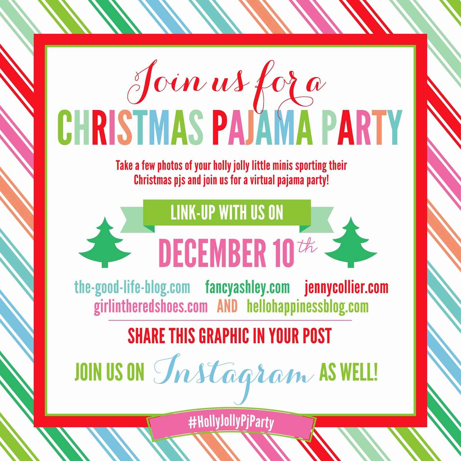 hello happiness a nashville lifestyle blog 2013 christmas pajama link up party