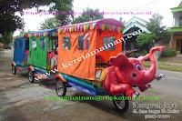 Kereta Mini Sepeda Motor Gajah Dengan Tenda