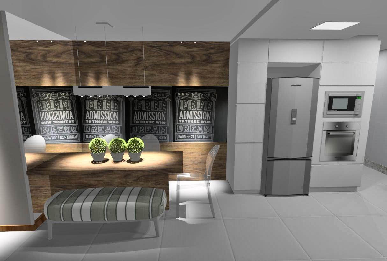 Ideias da Bê!: #COZINHA : uma cozinha com estilo Apto Mata da Praia #9C732F 1214 818
