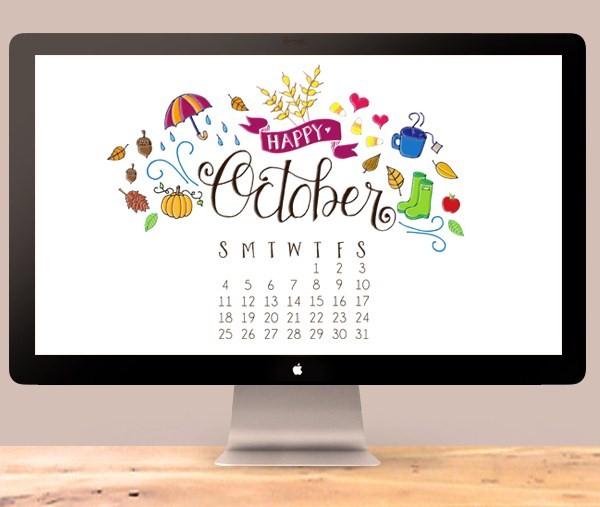 October-Calendar-2015 by DawnNicole Designs