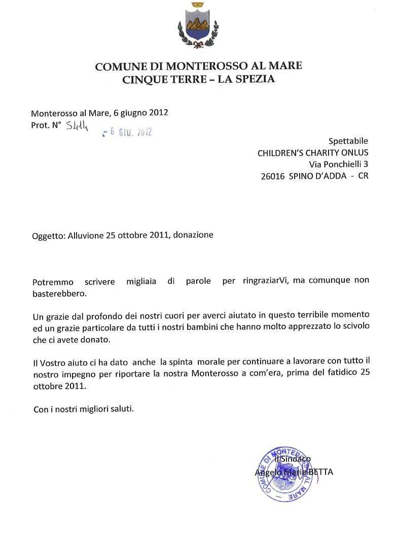 Children 39 s charity onlus news monterosso al mare for Esse arredi spino d adda cr