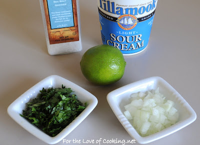 Cilantro and Lime Sour Cream