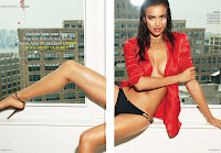 Irina Shayk hot sitting on the roof top for GQ Germany July 2012 Issue