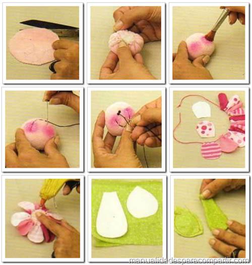 Manualidades para compartir gorro y bufanda polar con aplique para nena - Como hacer manualidades con tela ...