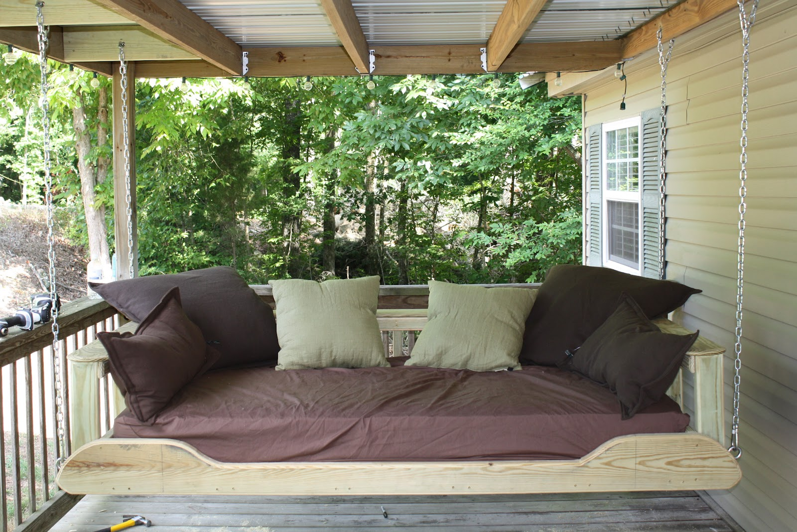 for such a time as this porch bed swing. Black Bedroom Furniture Sets. Home Design Ideas