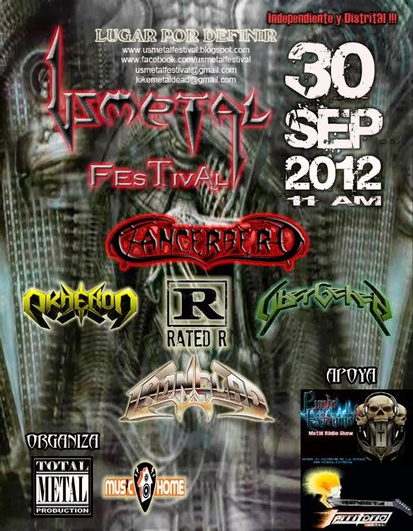 """Usmetal Festival 2012 """"Versión Independiente Distrital"""""""