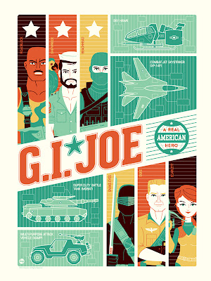 New York Comic-Con 2012 Exclusive G.I. Joe Screen Prints by Dave Perillo - G.I. Joe
