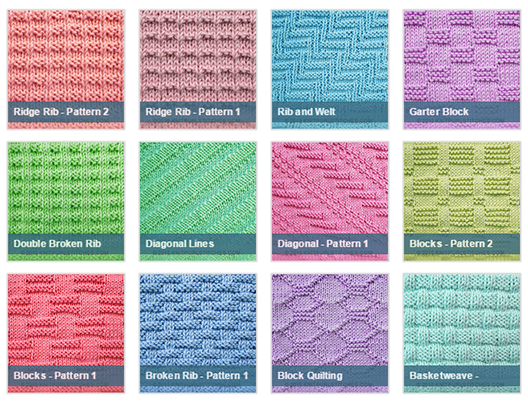 Stitch Patterns Using Knit Purl Combinations Knitting Unlimited