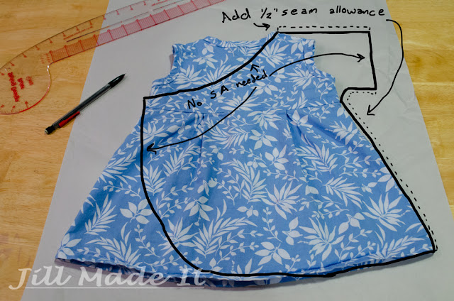 Use the dress to draft your pattern for the robe.