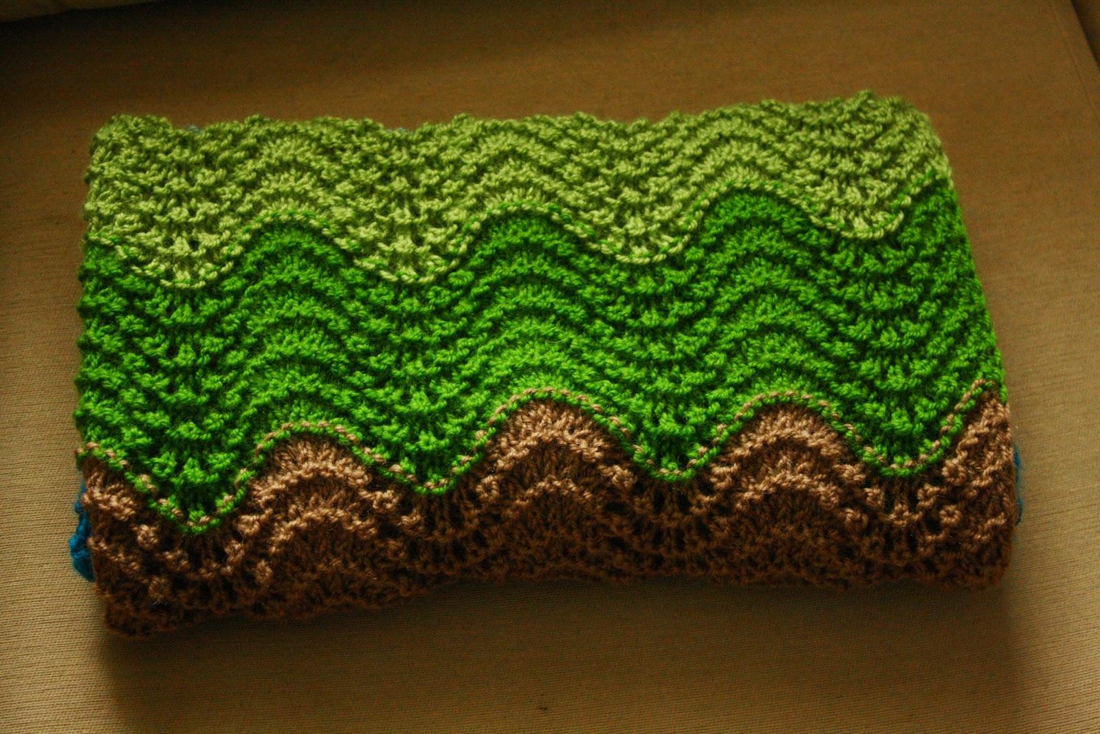Knit Baby Blanket Wave Pattern : Little Ursa: Wave Baby Blanket