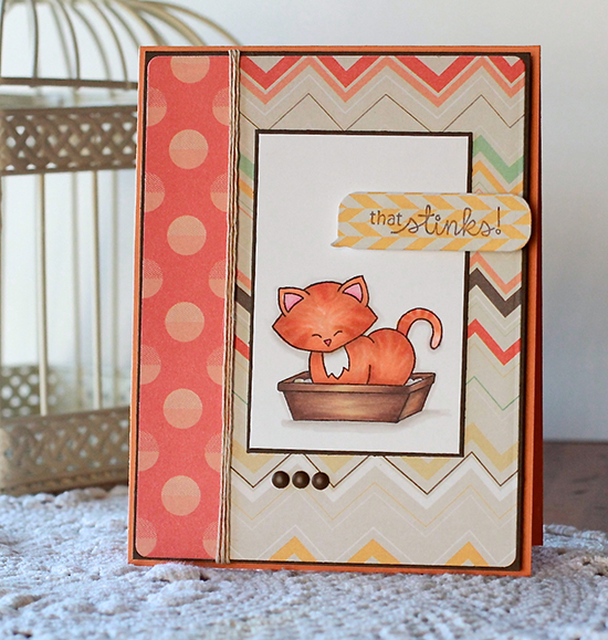 Naughty Cat Card by Angel Rivera | Naughty Newton Stamp set by Newton's Nook Designs