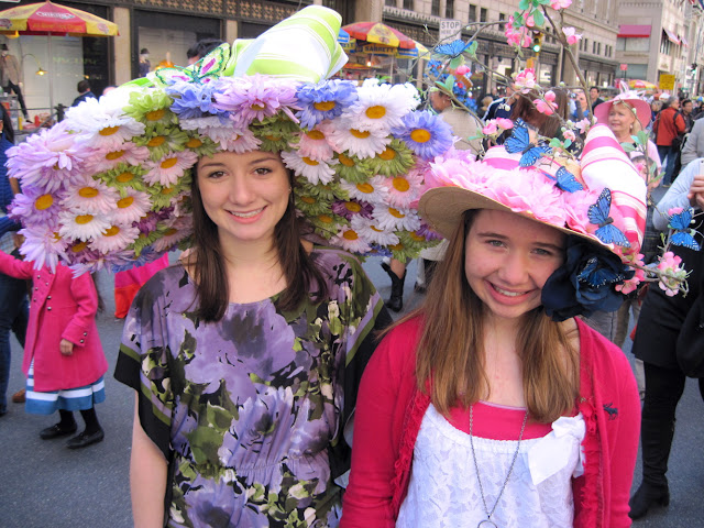 Flowers abound on these Easter Parade bonnets