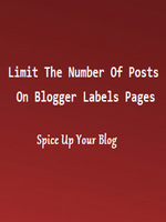 How To Fix The Number Of Posts Displayed On Blogger Labels Pages