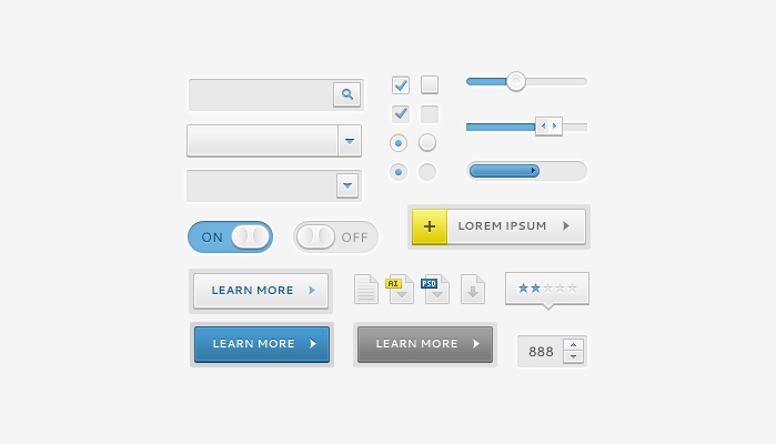Sleek UI Elements