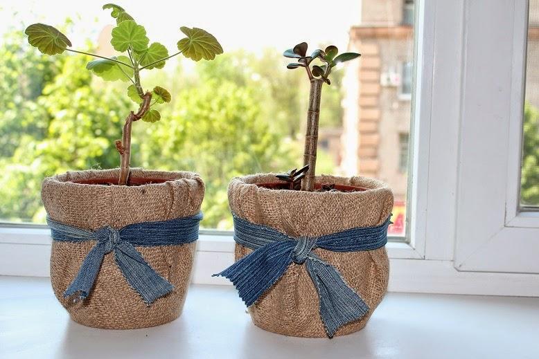 Как задекорировать горшки для цветов своими руками 46