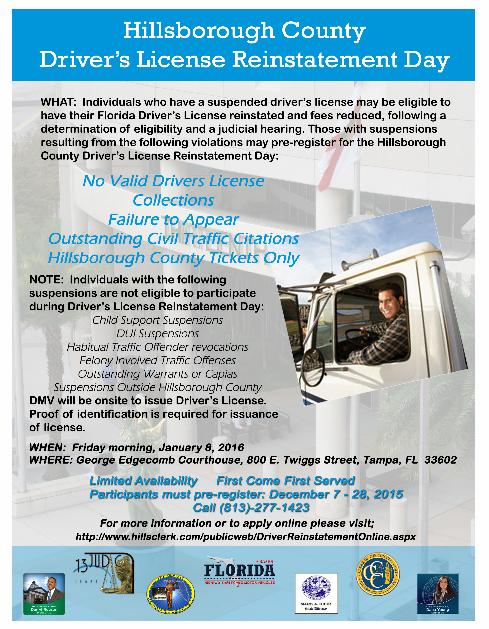 Tampa criminal law blog for Hillsborough county motor vehicle registration