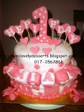 2tier B'day Cake With Fondant Icing
