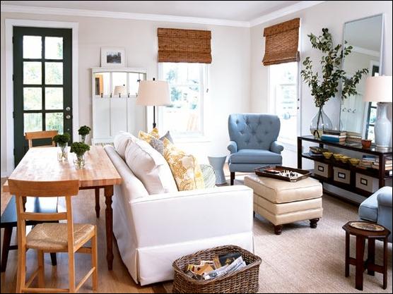 cottage living room design ideas - Living Room Dining Room Design