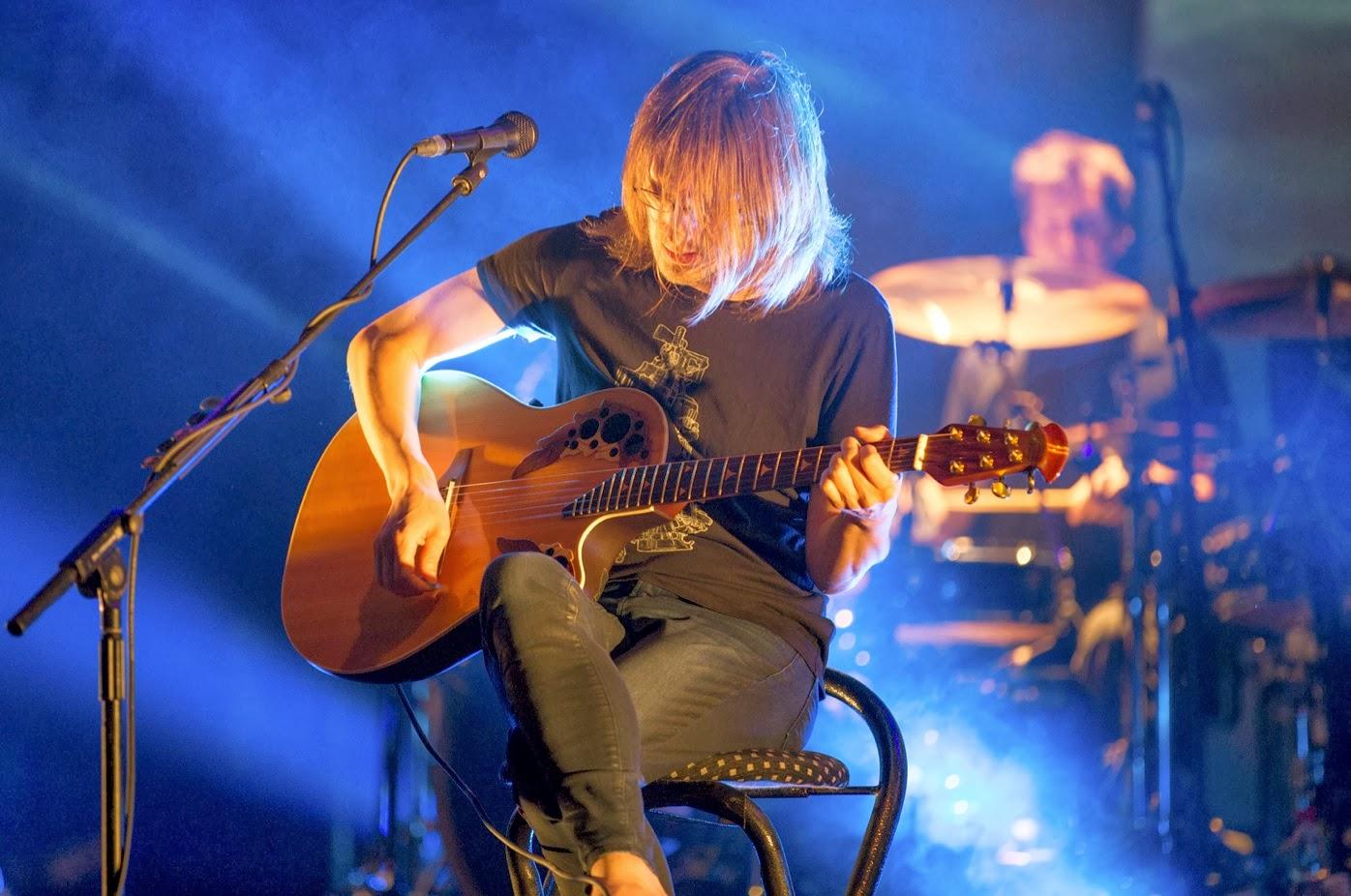 Steven Wilson en una actuación en directo en el Festival de Loreley en 2013
