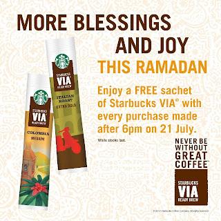 starbuck - FREEBIES - [ENDED] FREE Starbucks VIA sachet!