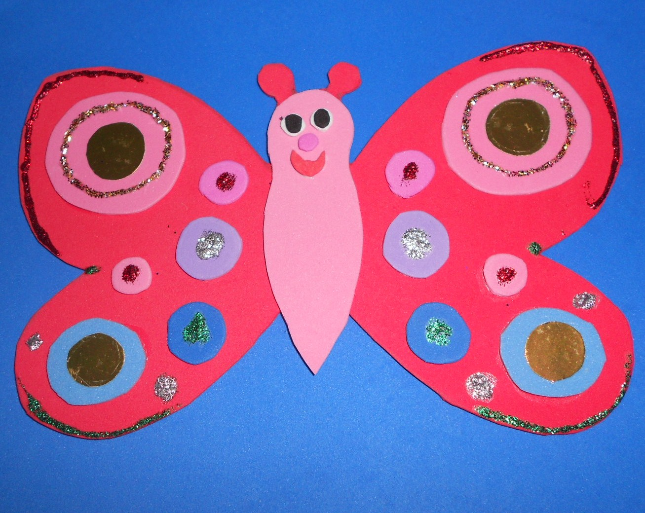 James may arts and crafts blog foam butterfly craft for Butterfly art and craft
