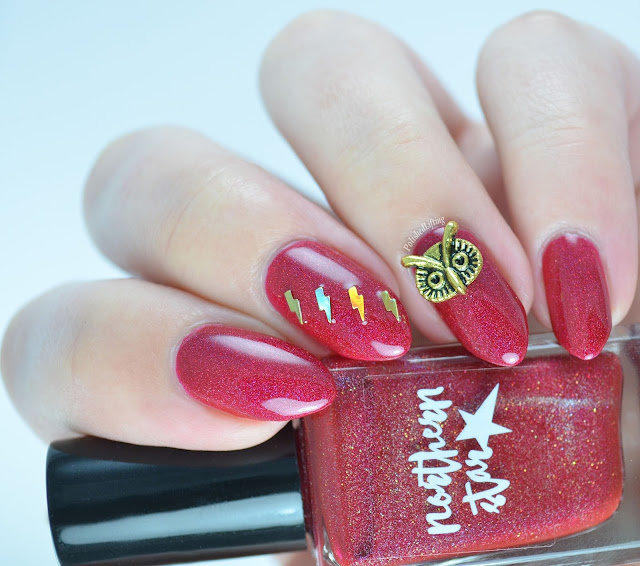 Northern Star Cosmetics Protego Totalum lightning bolt owl charm Harry Potter Set