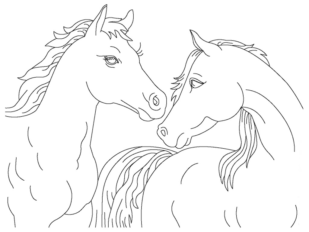 Realistic Horse Jumping Coloring Pages