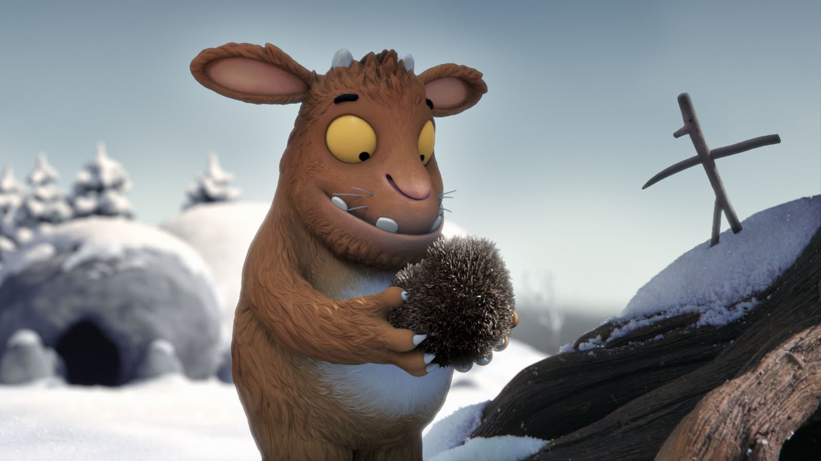 The Gruffalo´s Child finds a hedgehog