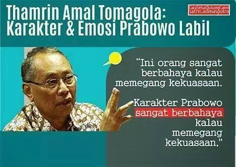 Karakter Prabowo Sangat Berbahaya