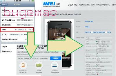 Selain itu kita dapat mengetahui model iphone dengan periksa di http